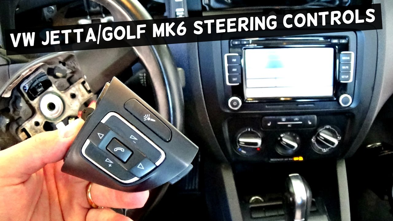 volkswagen tiguan wiring diagram 7 pin flat socket vw jetta mk6 steering wheel controls removal replacement golf - youtube