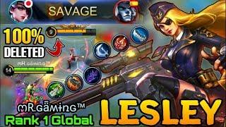 SAVAGE!! Lesley Instantly Deleted Everyone with Crazy Crit Damage - Top 1 Global Lesley ოR.ɢǟʍɨռɢ™
