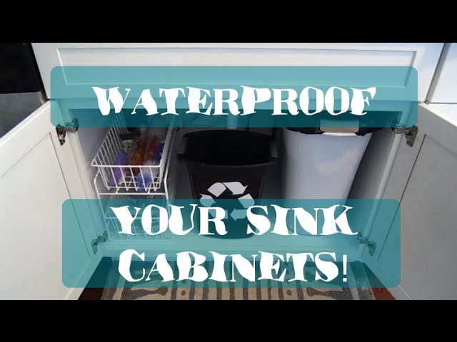 how to waterproof your sink cabinets