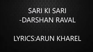 Sari Ki Sari song lyric