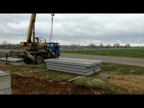 Как перекрыть фундамент плитами перекрытия БЫСТРО и просто