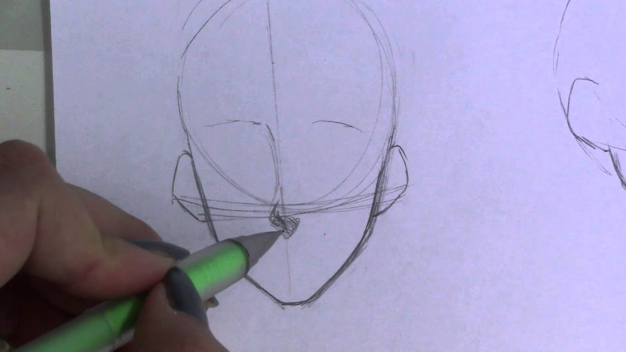 Mini tutorial how to draw noses manga anime youtube