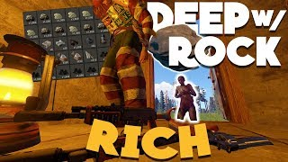 Rust - GOING DEEP on a RICH CLAN BASE w/ a ROCK! (My Most INSANE Rust Play Ever)