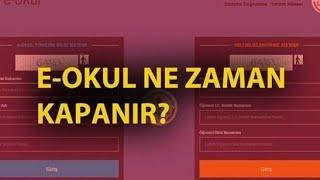 E-Okul Ne Zaman Kapanacak? (2018-19) VBS