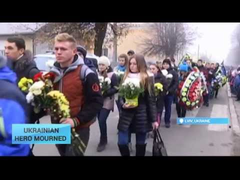 Lviv Mourns Ukraine War Hero: Western city residents pay last respects to volunteer fighter