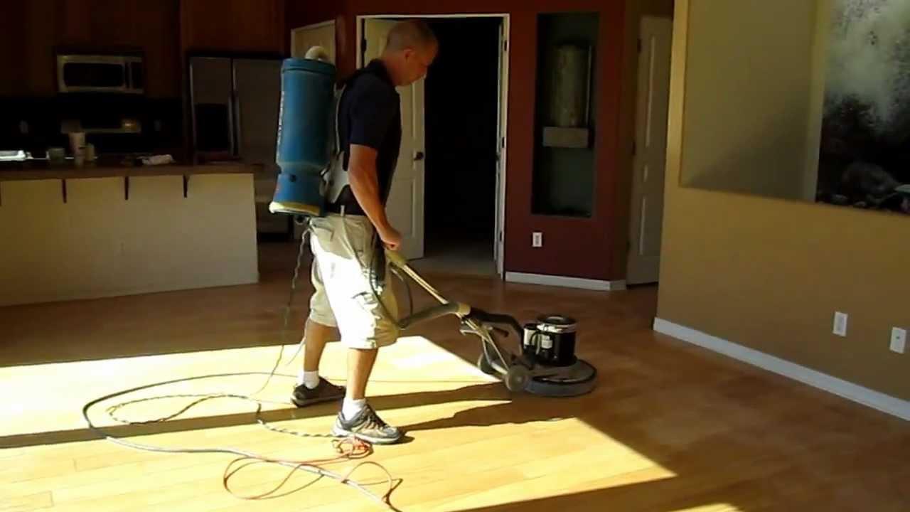 Buffing Hardwood Floors Video Part - 37: Wood Floor Screening, Buffing, Recoating In Scottsdale, Sun City, Arizona -  YouTube