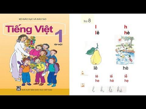 Tiếng Việt lớp 1 Tập 1 Bài 8 | dạy bé học chữ cái tập đọc| PA channel
