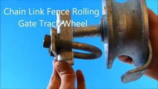 Chain Link Fence Rolling Gate Track Wheel