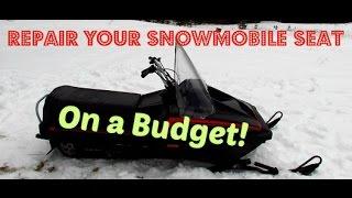 DIY Snowmobile Seat Restoration