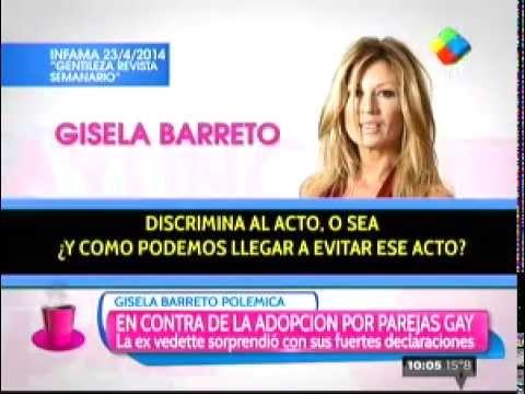 Gisela Barreto: No a la adopción entre parejas homosexuales