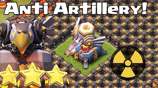 Clash of Clans - NUKE ARTILLERY!! (Anti Artillery achievement!!)