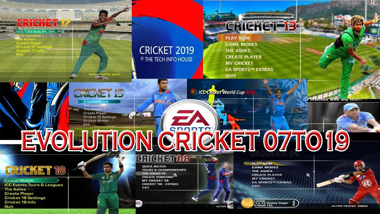Evolution Of Ea Sports Cricket 07 To 19 Cricket 2007 To 2019