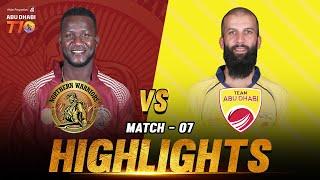 Match 7 I Northern Warriors vs Team Abu Dhabi I Day 3 I Aldar Properties Abu Dhabi T10 I Season 3
