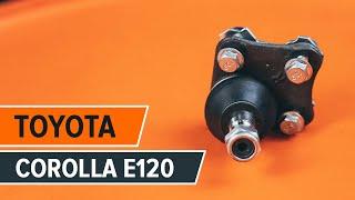 Cambio testina braccio oscillante anteriore TOYOTA СOROLLA E120 TUTORIAL | AUTODOC