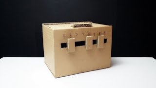 How to Make Safe with Combination Lock from Cardboard Easy DIY