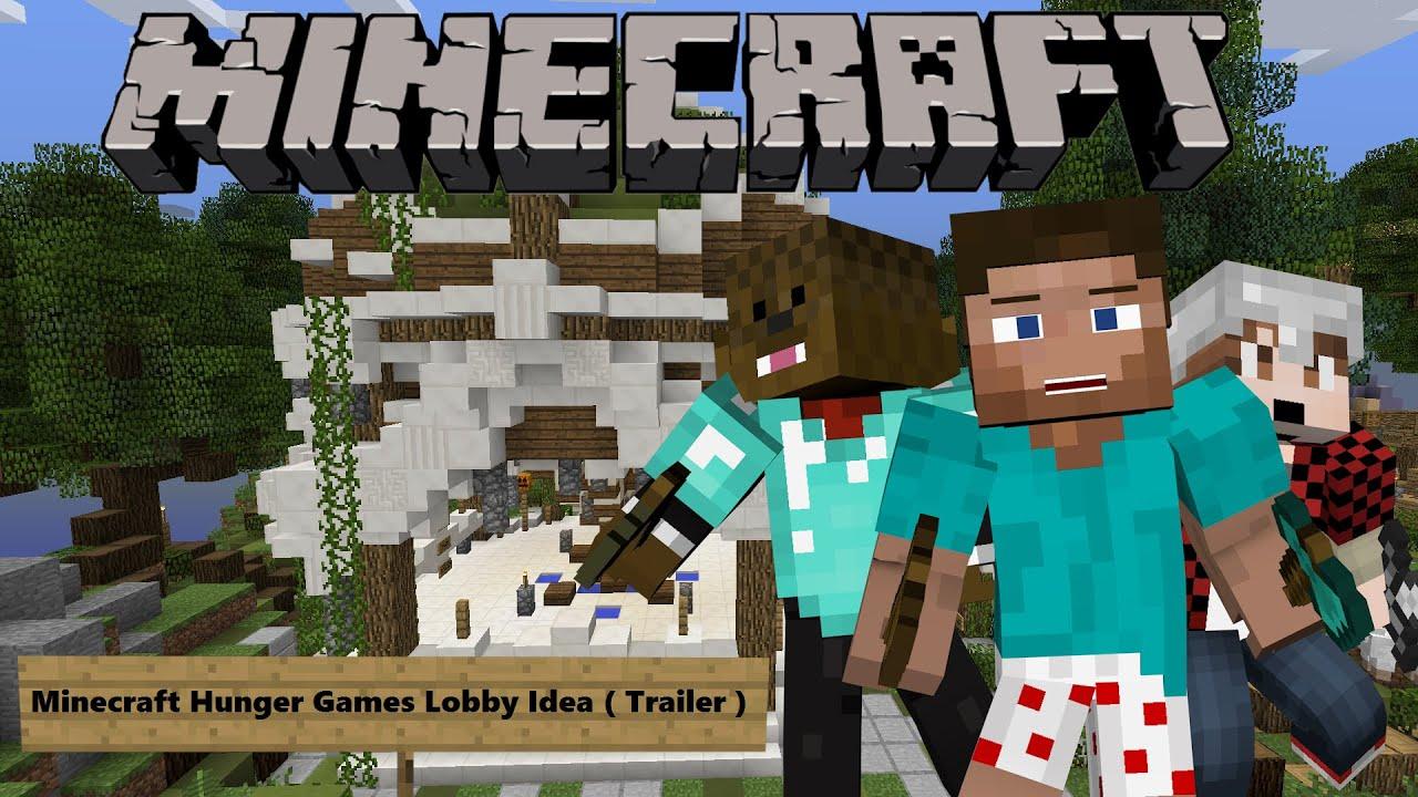 Minecraft Hunger Games Lobby Idea Trailer YouTube - Minecraft spiele lobby