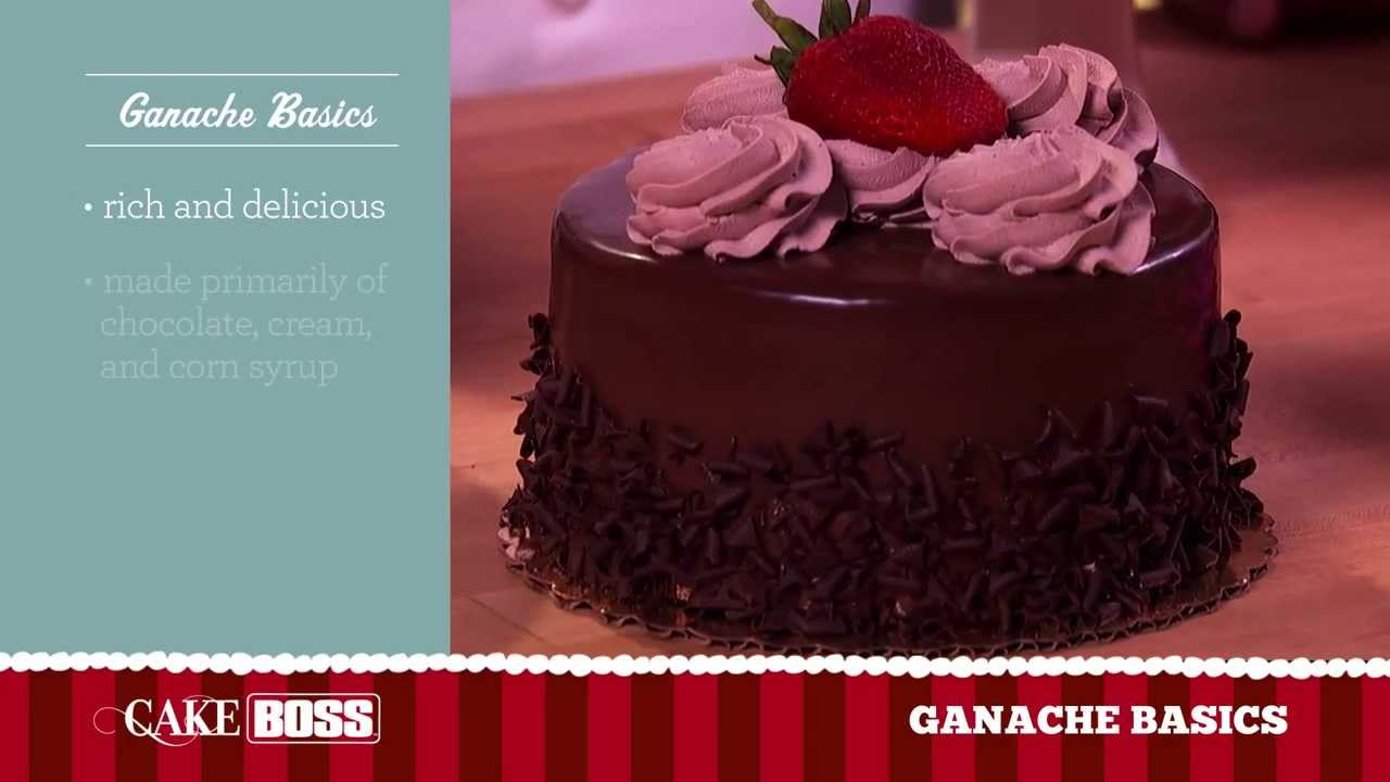 Cake Decorating Chocolate Ganache Recipe : Chocolate Ganache Cake Decorating Basics - Easy Homemade ...