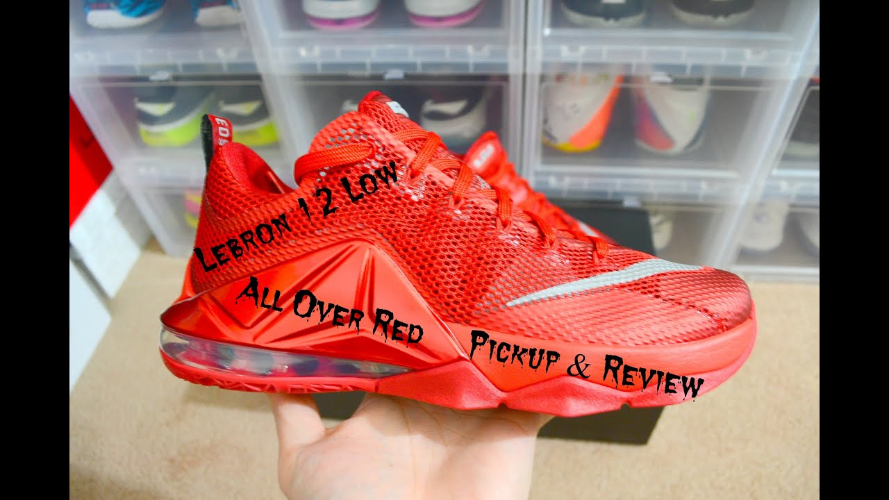 official photos 22bc0 21fcf Nike Lebron 12 Low All Over Red Pickup & Review @footlocker @KingJames @Nike