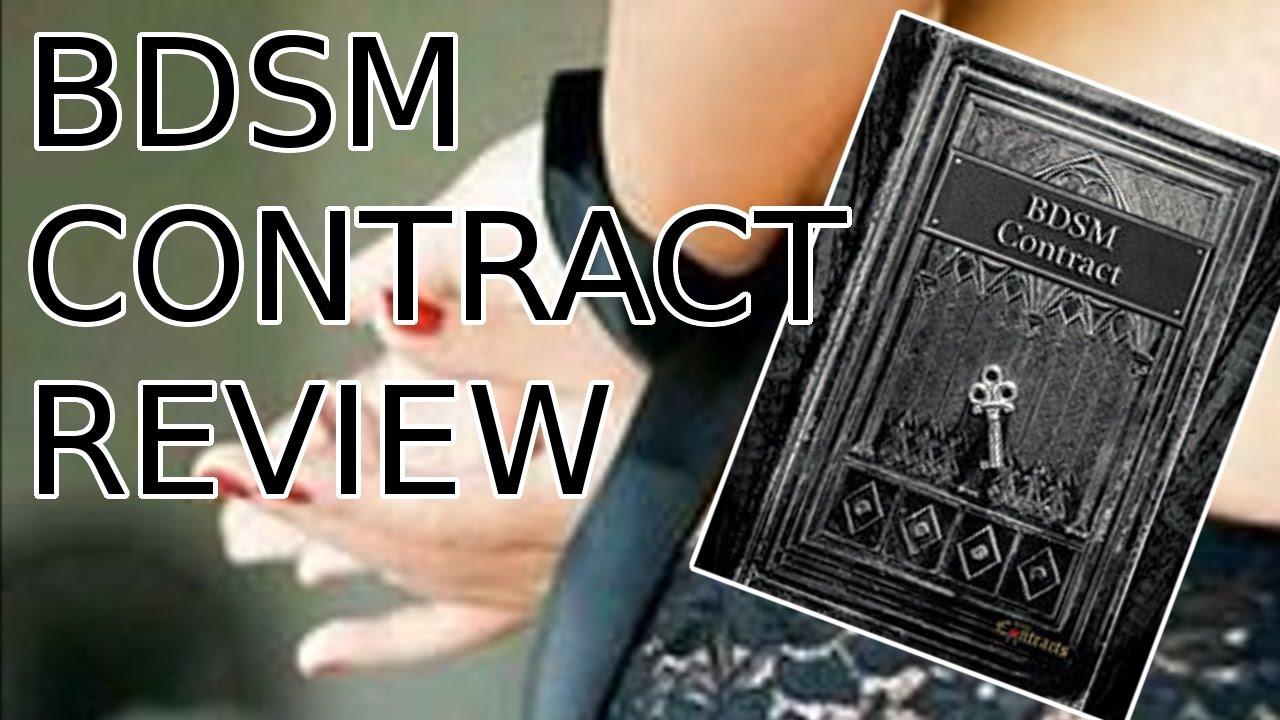 Bdsm masterslave contract
