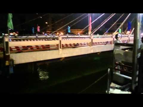 Cầu sông Hàn quay 12h đêm - Đà Nẵng 04/01/2015