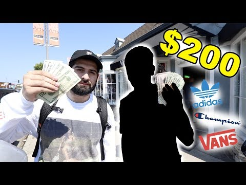 $200 HYPEBEAST OUTFIT CHALLENGE VS YOUTUBER!!