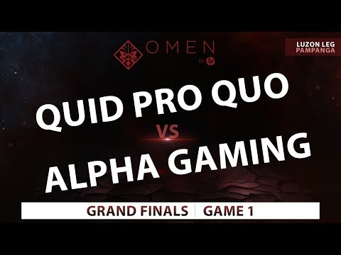 Quid Pro Quo vs Alpha Gaming  Game 1  Omen by HP Esports Tour Luzon