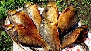 Рыба холодного копчения в домашних условиях, караси(Рыба холодного копчения. Полный процесс от засолки до копчения карасей - http://alkofan.org/kopchenie/retsept-holodnogo-kopcheniya-ryby/..., 2016-04-22T08:33:08.000Z)
