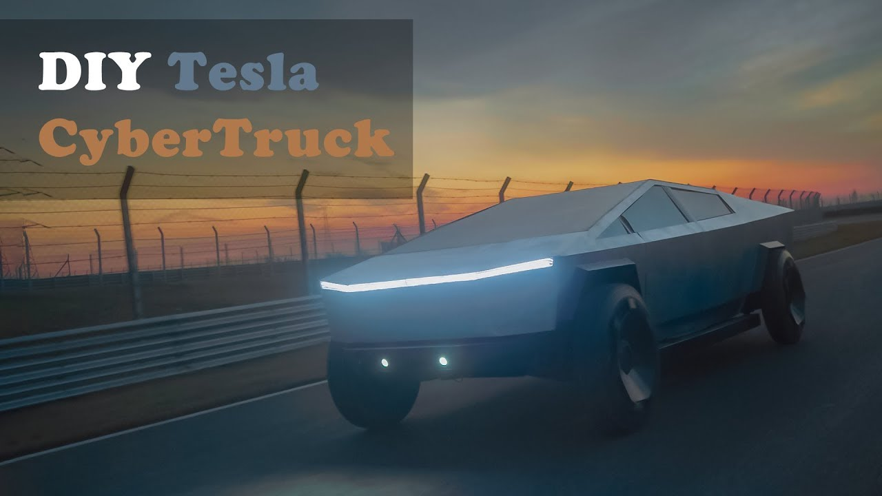 Eng Sub HANDMADE Tesla CyberTruck, SHOW TIME! 純手工1:1特斯拉 ...