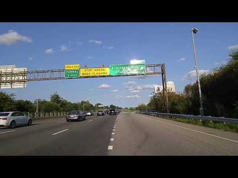 Driving from Newport News to Hampton,Virginia