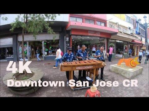 Walking through  Downtown San Jose,   Costa Rica in 4K 60 fps