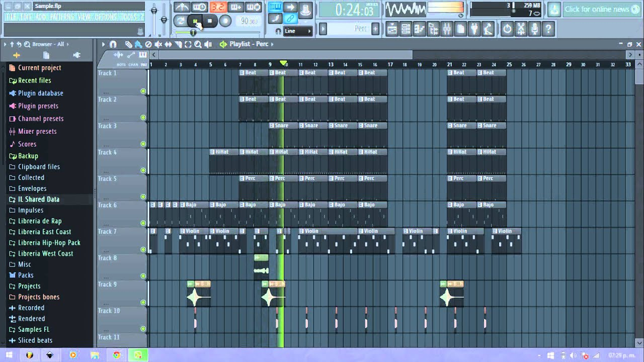 Sample Violin Triste - Hip Hop - Fl Studio 11