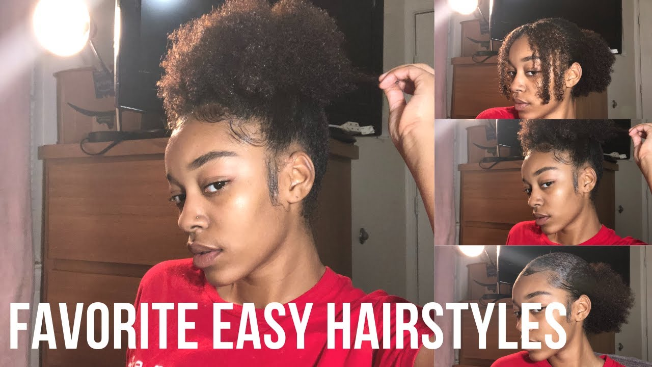 4 Easy Natural Hairstyles for BEGINNERS    YouTube