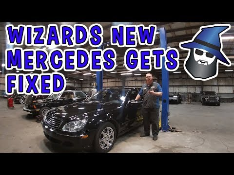CAR WIZARD Replaces Transmission Mount on '04 Mercedes S430