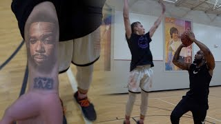 1vs1 Basketball Against My #1 Fan | He Has Me Tatted On His Arm!