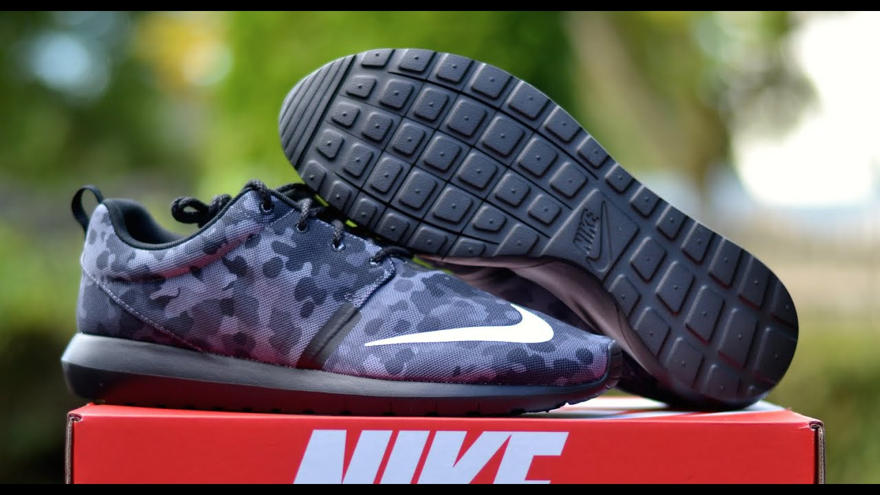 nike roshe run nm fb quotdark camoquot review amp on feet