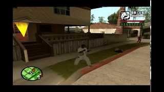 GTA SA parkour mod how to do backflip