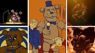 FNAF 6 - All Endings (Freddy Fazbear's Pizzeria Simulator) Video