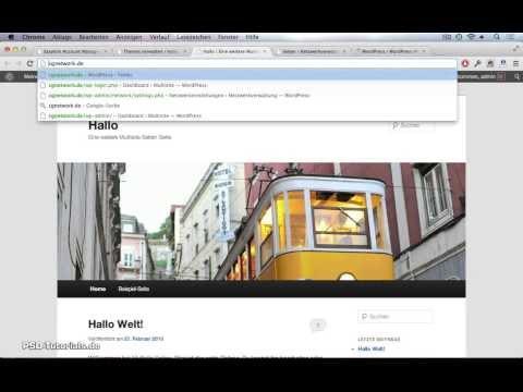 WordPress Tutorial - MultiSite- / MultiUser-System einrichten