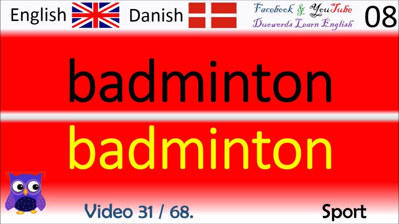 31 Sport Dansk - Engelsk Ord / Danish - English Words engelsk kursus