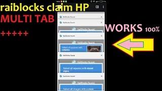 RAIBLOCKS CLAIM USING MULTI TAB HANDPHONE 100% WORK