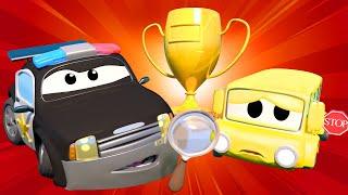La Super Patrulla - El Caso del Trofeo PERDIDO - Auto City | Dibujos animados de carros