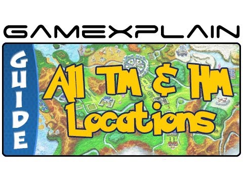 Pokémon X & Y - All TM & HM Locations (Guide & Walkthrough)