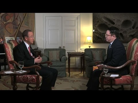 UN Secretary General Ban Ki moon talks about UNSC
