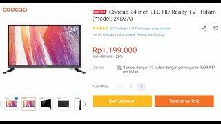 Review Coocaa 24 inch (model: 24D3A) dalam 3 hari pemakaian