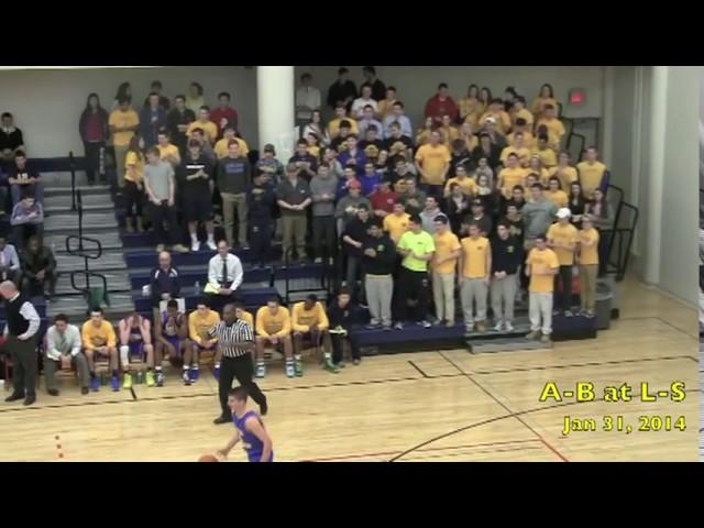 Acton Boxborough Varsity Boys Basketball @ LS 1/31/14