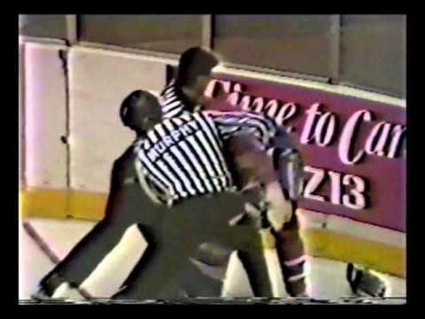 Dan Woodley vs. Mike Richard & Donald Dufresne vs. Mark Hatcher AHL 160389