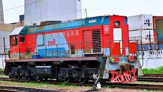 Фото Railway. Shunting Locomotive TEM2 Leaves The Port Маневровый тепловоз ТЭМ2 выезжает с рыбного порта