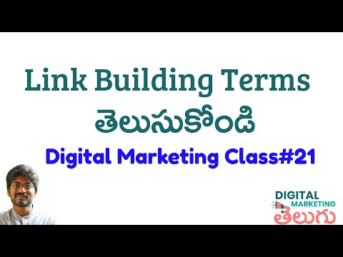Link Building Terms in SEO | Learn Backlinks SEO Telugu |Digital Marketing in Telugu Course Class 21