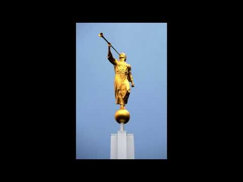Gold leaf restoration of the Angel Moroni