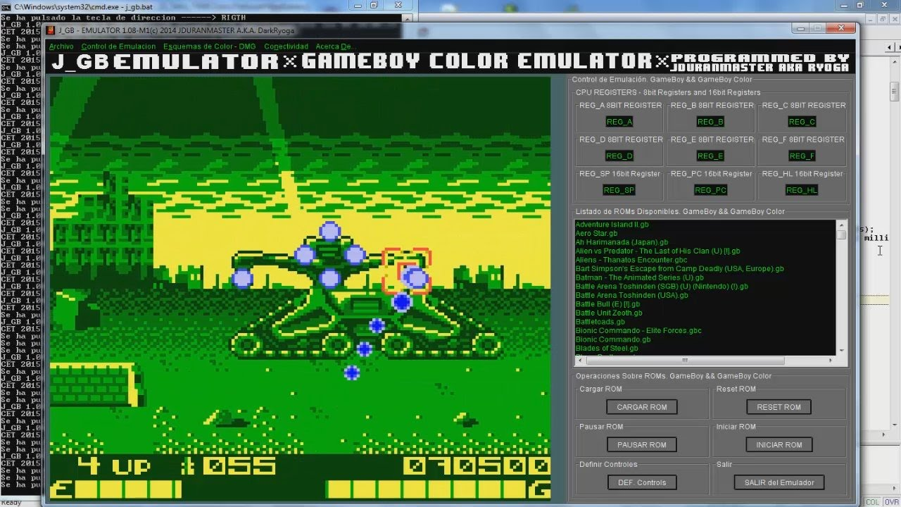 Gameboy color palettes - Terminator 2 Arcade Game Game Boy Java J_gb Beta Color Palette Test